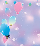 Balloons in the sky Stock Photos