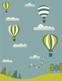 Balloons in the sky. Hot air balloons in the sky Stock Images