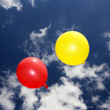 Balloons on the sky. Colorful balloons on the sky Royalty Free Stock Image