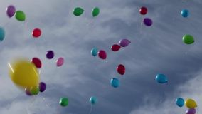 Balloons in the sky. The balloons in the sky