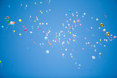 Balloons in the sky Stock Images