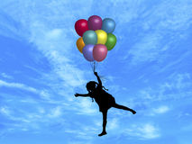Balloons in Sky 4 Royalty Free Stock Photos
