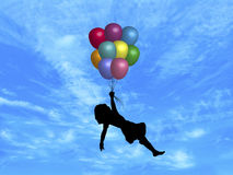 Balloons in Sky  Royalty Free Stock Photo