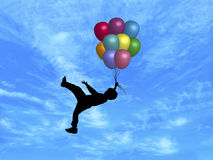 Balloons in Sky 5 Royalty Free Stock Images