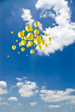 Balloons on sky Royalty Free Stock Image