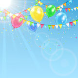 Balloons on sky background Royalty Free Stock Photo