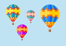 Balloons in the sky. Balloons on blue background Royalty Free Stock Image