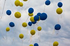 Balloons in the sky Royalty Free Stock Images