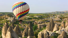 Balloons in the sky of Cappadocia stock footage