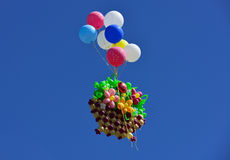 Balloons in the sky. Stock Images