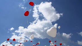 Balloons in the Sky stock video