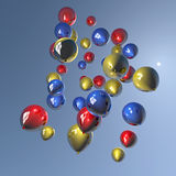 Balloons in the sky. Group of colorful balloons floating in the sky Stock Image
