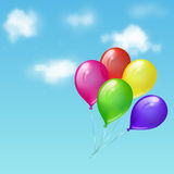 Balloons in the sky Royalty Free Stock Image