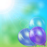 Balloons in sky Stock Photo