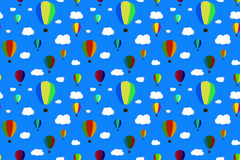 Balloons in the sky. Vector Seamless Pattern. EPS10. Stock Photo