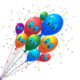 Balloons smiling a background Royalty Free Stock Image