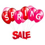 Balloons spring sale vector illustration. 3d design Stock Photography
