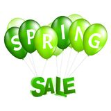 Balloons spring sale vector illustration. 3d design Stock Photo