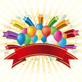 balloons and star Royalty Free Stock Photo