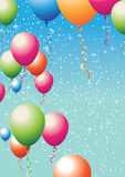 Balloons and stars Stock Photography