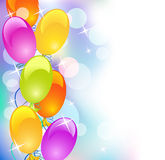 Balloons and stars Royalty Free Stock Image