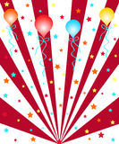 Balloons and stars. Colorful celebration balloons and stars Stock Photography