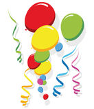 Balloons and Streamers vector Royalty Free Stock Images