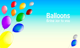 Balloons on a string Stock Images