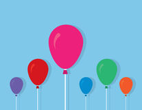 Balloons String Colors Royalty Free Stock Photos