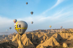 Balloons striving for the sky Stock Image