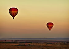 Balloons at Sunrise, Kenya Royalty Free Stock Image