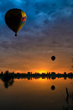 Balloons at sunset Royalty Free Stock Images