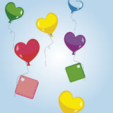 Balloons with tags Stock Photo