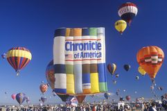 Balloons take to the air at the Albuquerque International Balloon Fiesta in New Mexico Royalty Free Stock Photography