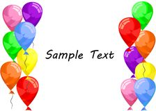 Balloons template Royalty Free Stock Images