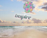 Balloons with text Royalty Free Stock Images