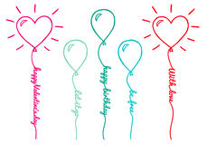 Balloons with text, vector set Stock Photo