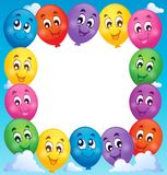 Balloons theme frame 1 Royalty Free Stock Photography
