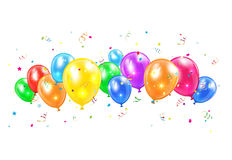 Balloons and tinsel Royalty Free Stock Image