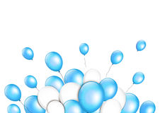 Balloons in traditional colors of Bavaria Royalty Free Stock Images