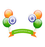 Balloons in Traditional Tricolor of Indian Flag Stock Photography