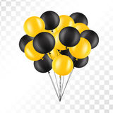 Balloons on transparent background. Bunch of balloons isolated. Vector illustration. Balloons on transparent background. Vector set for greeting cards. Isolated Stock Image