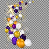 Balloons on transparent background Stock Images