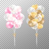 Balloons on transparent background. royalty free illustration