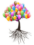 Balloons tree for happy holiday Royalty Free Stock Photos