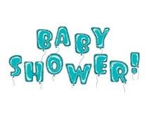 Balloons a turquesa da festa do bebê Ilustração Royalty Free