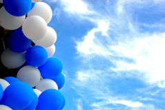Balloons under the sky Stock Photo