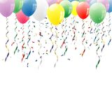 Balloons up. Vector party background with balloons Royalty Free Stock Photos