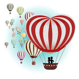 Balloons for Valentine. Vector illustration of a set of balloons for Valentine Royalty Free Stock Images