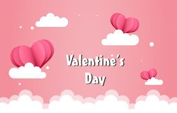 Balloons valentines day background stock photos
